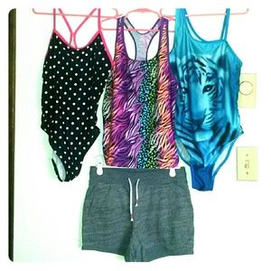 Other - Girls XL 14/16 swim 4 piece CUTE set!